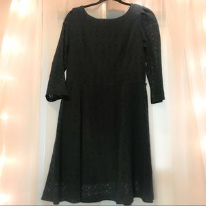 Teal Lace Quarter Length Sleeve Dress